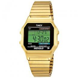 Timex T78677 Men's Classic Digital Gold-Tone Expansion Watch