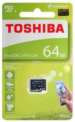 TOSHIBA MICRO SD CARD -64GB