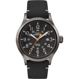 TIMEX TW4B01900 MEN'S EXPEDITION SCOUT LEATHER WATCH