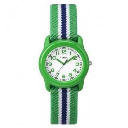 TIMEX TW7C06000 KIDS QUARTZ GREEN/BLUE ELASTIC STRAP ANALOG SMALL SIZE WATCH