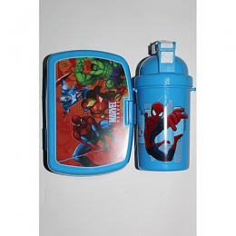 Universal Marvel Lunch Box +( Water Bottle) - Blue