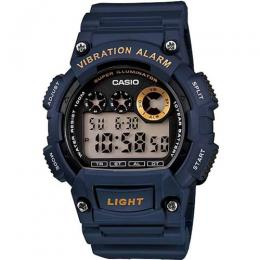 CASIO W735H-2AV MEN'S CORE DIGITAL SPORT BLUE RESIN QUARTZ WATCH
