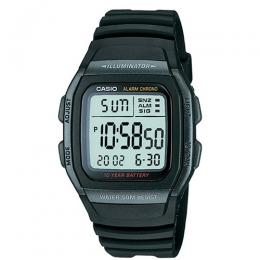 Casio W96H-1BV Men's Classic Digital Dual Time Small Size Watch