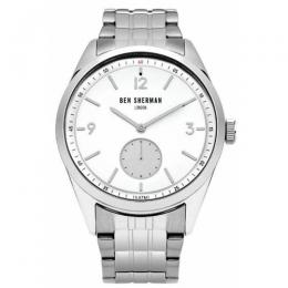 BEN SHERMAN WB052SM MEN'S LONDON CARNABY DRIVER BRACELET WATCH
