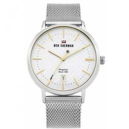 BEN SHERMAN WBS103SM MENS THE DYLAN HERITAGE MESH STRAP WATCH