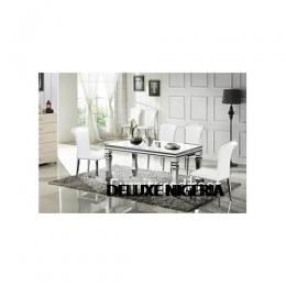 Marble White Bulin Dining Set Furniture + 6 Dinning Chairs