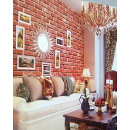 3D EFFECT NATURE BRICK WALLPAPER - WJ205-1