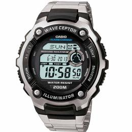 Casio WV200DA-1AV Men's Wave Ceptor Digital Stainless-Steel Large Size Watch