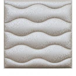 3D BEIGE LEATHER WALL PANEL - XK-16