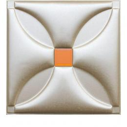 3D BEIGE LEATHER WALL PANEL - XK-18