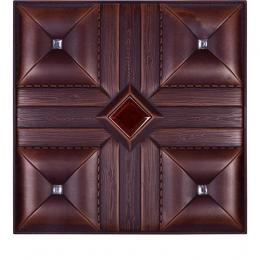 3D BROWN LEATHER WALL PANEL - XK-33