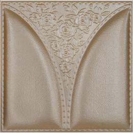 3D BROWN LEATHER WALL PANEL - XK-41