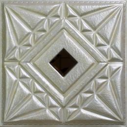 3D BEIGE LEATHER WALL PANEL - XK-51