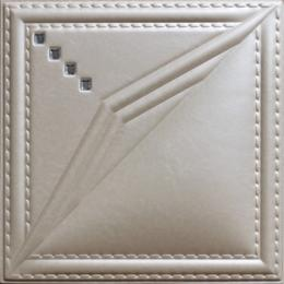 3D BEIGE LEATHER WALL PANEL - XK-79