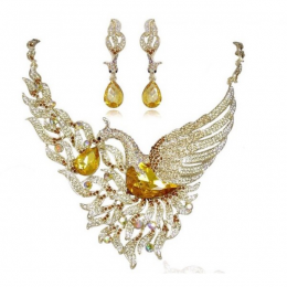 Yellow Swan Necklace Set
