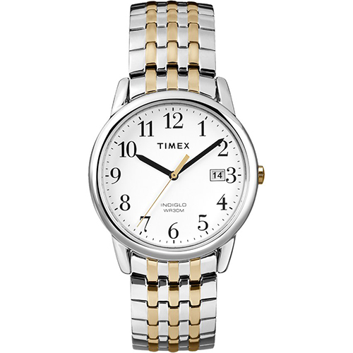 Timex T2P295 Men's Easy To Read White Dial Two Tone