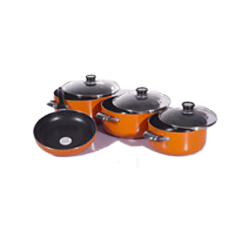 Tower 7pcs Non Stick Pot With Glass Lid Deluxe Nigeria